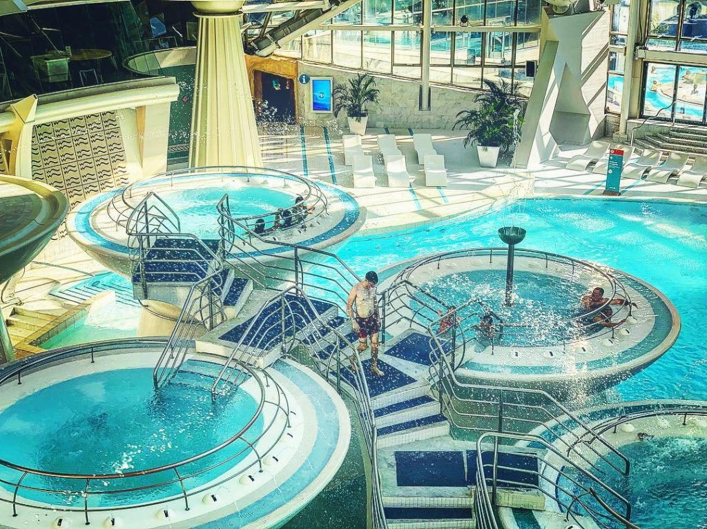 The Caldea Thermal waters in Andorra, one for the Europe Bucket List.