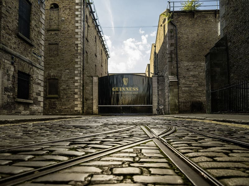 The famous gates to the Guinness Storehouse.