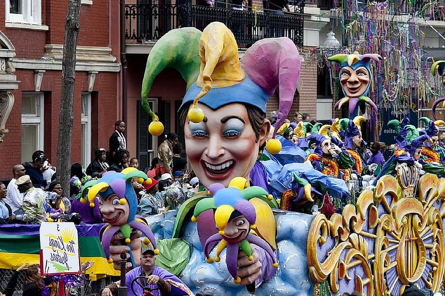 Celebrate the Mardi Gras in New Orleans, one for the USA Bucket List.