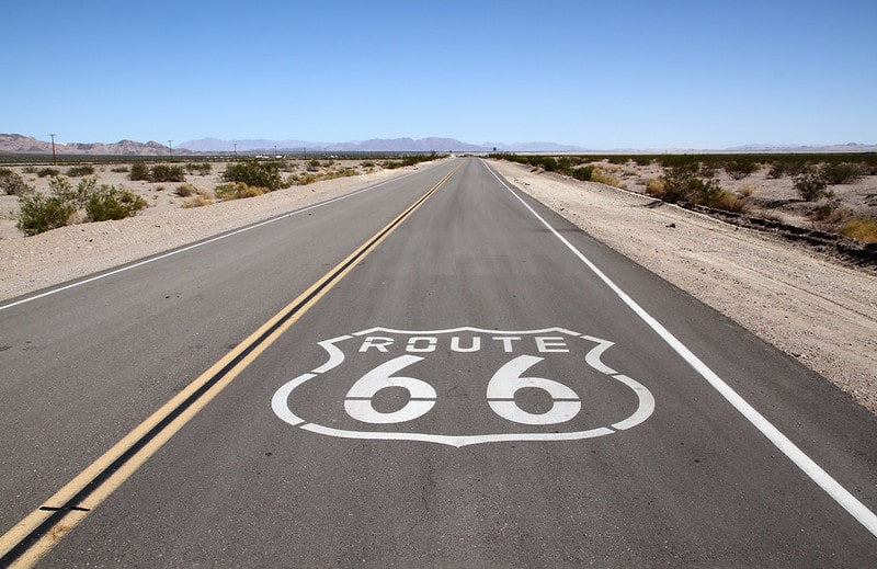 Driving from the east to west coasts of America along the Route 66 is an incredible bucket list idea.
