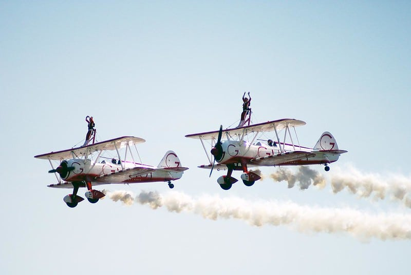 Wing Walking – one of the most extreme sports in the world.