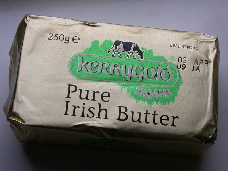 Kerrygold Butter is very popular around Ireland and is one of the best Irish foods.