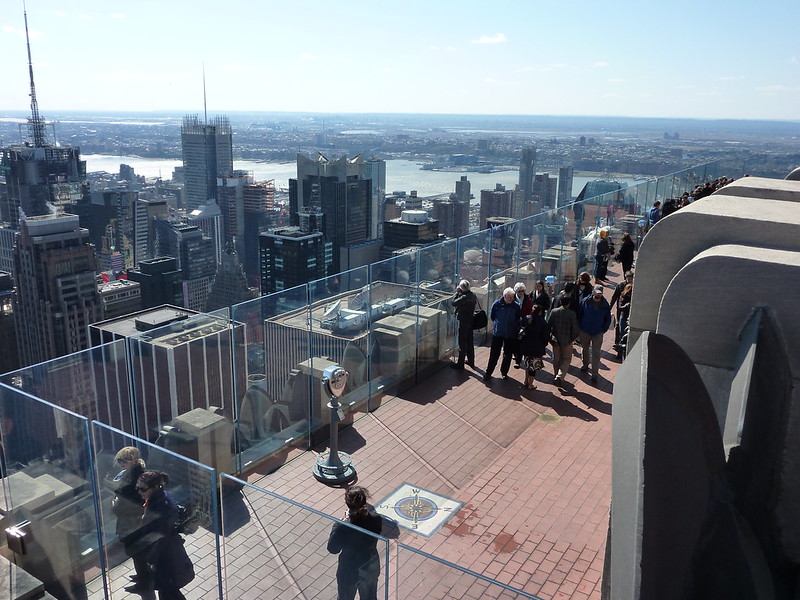The view from atop the Rockefeller Center in NYC is one of the best bucket list examples.