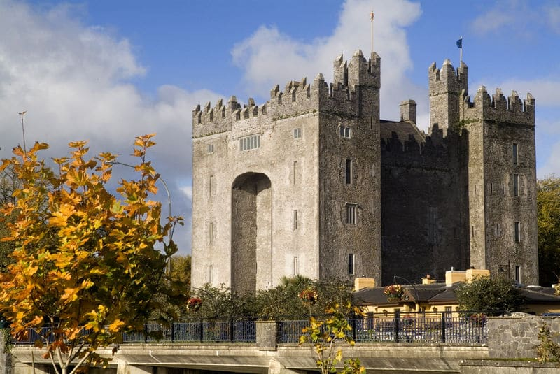 Bunratty Castle, a once medieval fortress, is one of the best castles in Ireland.
