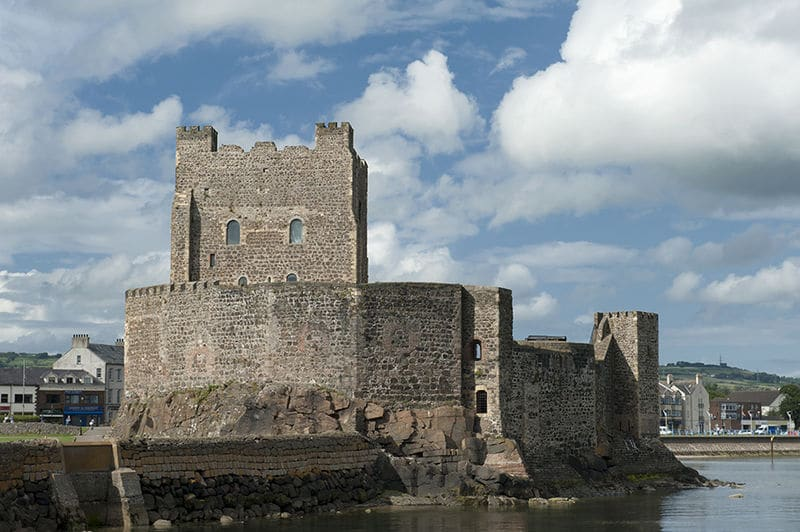 Carrickfergus Castle, another of the best castles in Ireland.