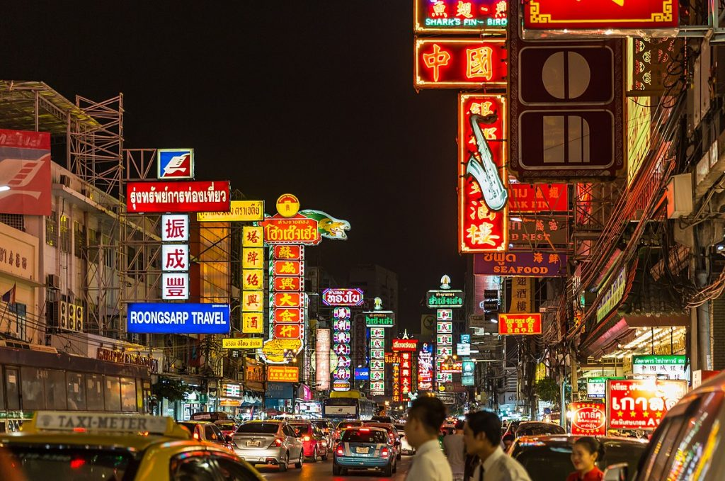 Eat out in Chinatown in Bangkok – one of the best things to do on the Thailand Bucket List.