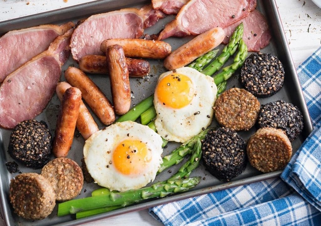 Black and white pudding is an Irish food that is a breakfast favourite.