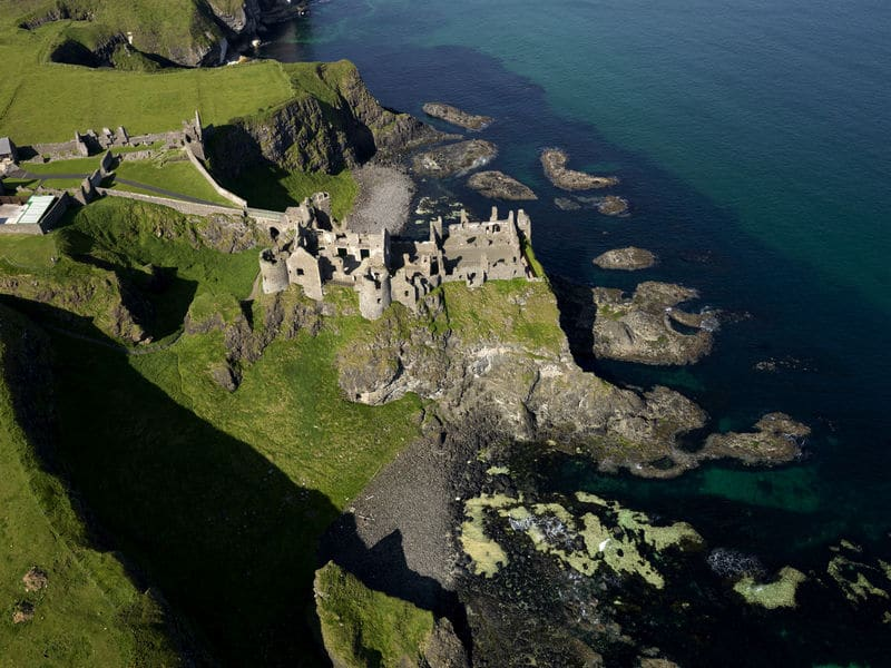 The ruins of the Dunluce Castle, certainly one of the best castles in Ireland.