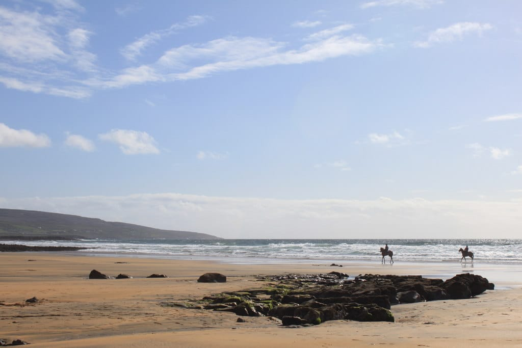 Fanore Beach, one of the best beaches in Ireland.