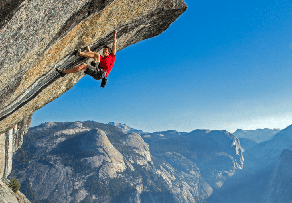Free Solo Climbing – for the absolute risk taker.