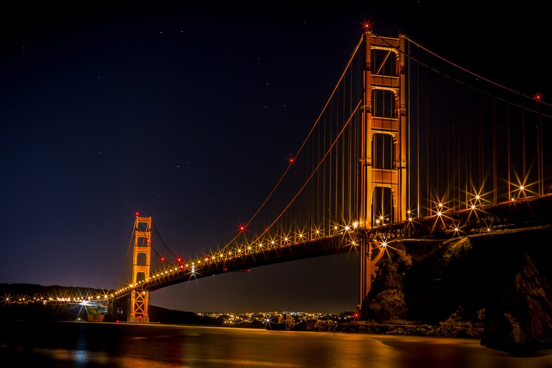 Driving over the Golden Gate bridge on a drive of the American West coast is one of the best bucket list examples.