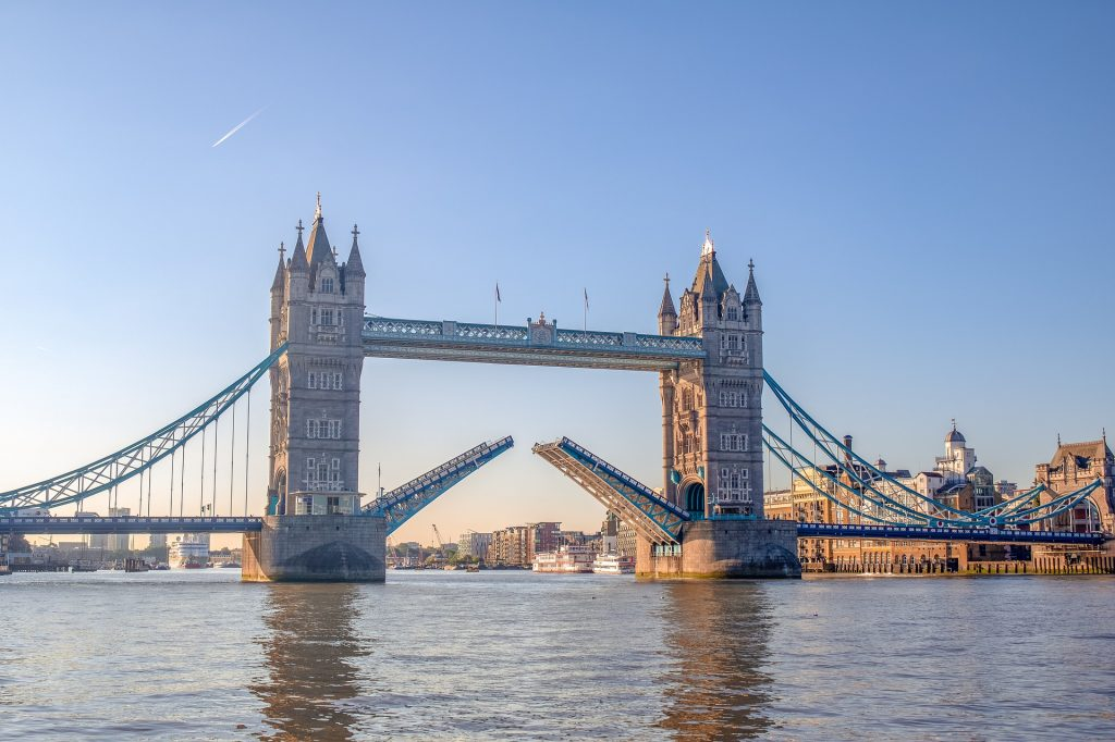 The Tower Bridge in London is one of the best things on the UK Bucket List.