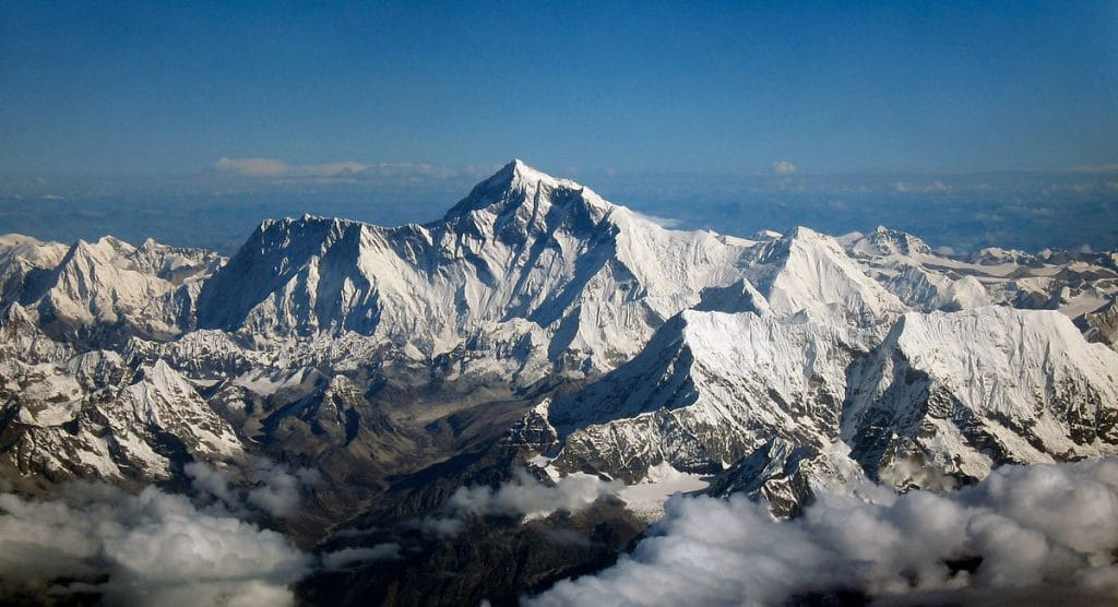 Climbing the majestic Mount Everest is one of the best bucket list ideas.
