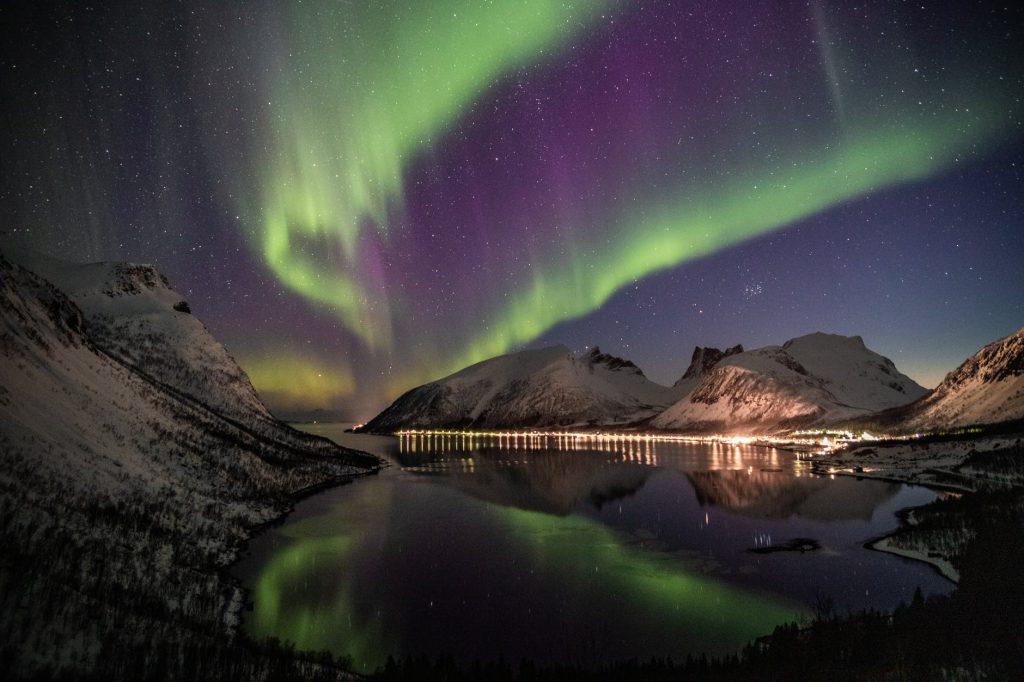 The Northern Lights as seen from Iceland.