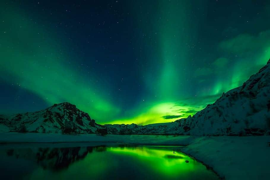 Another image of the awe-inspiring Northern Lights in Iceland.