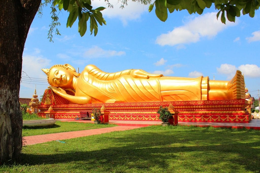 Visit the Reclining Buddha, one of the best things to do in Thailand.