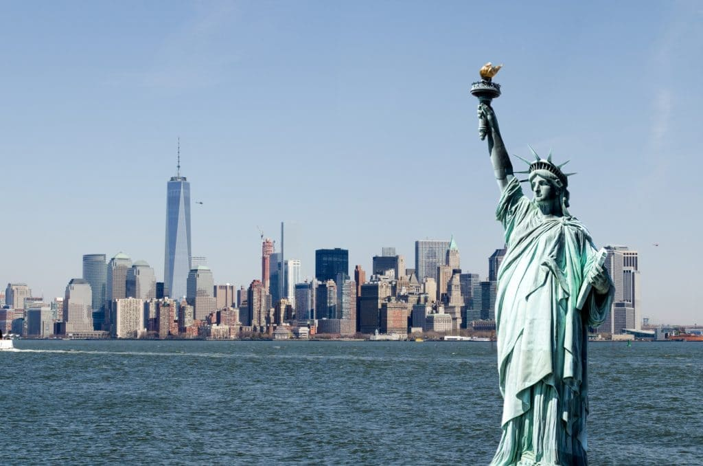 See the Statue of Liberty – the symbol of freedom.