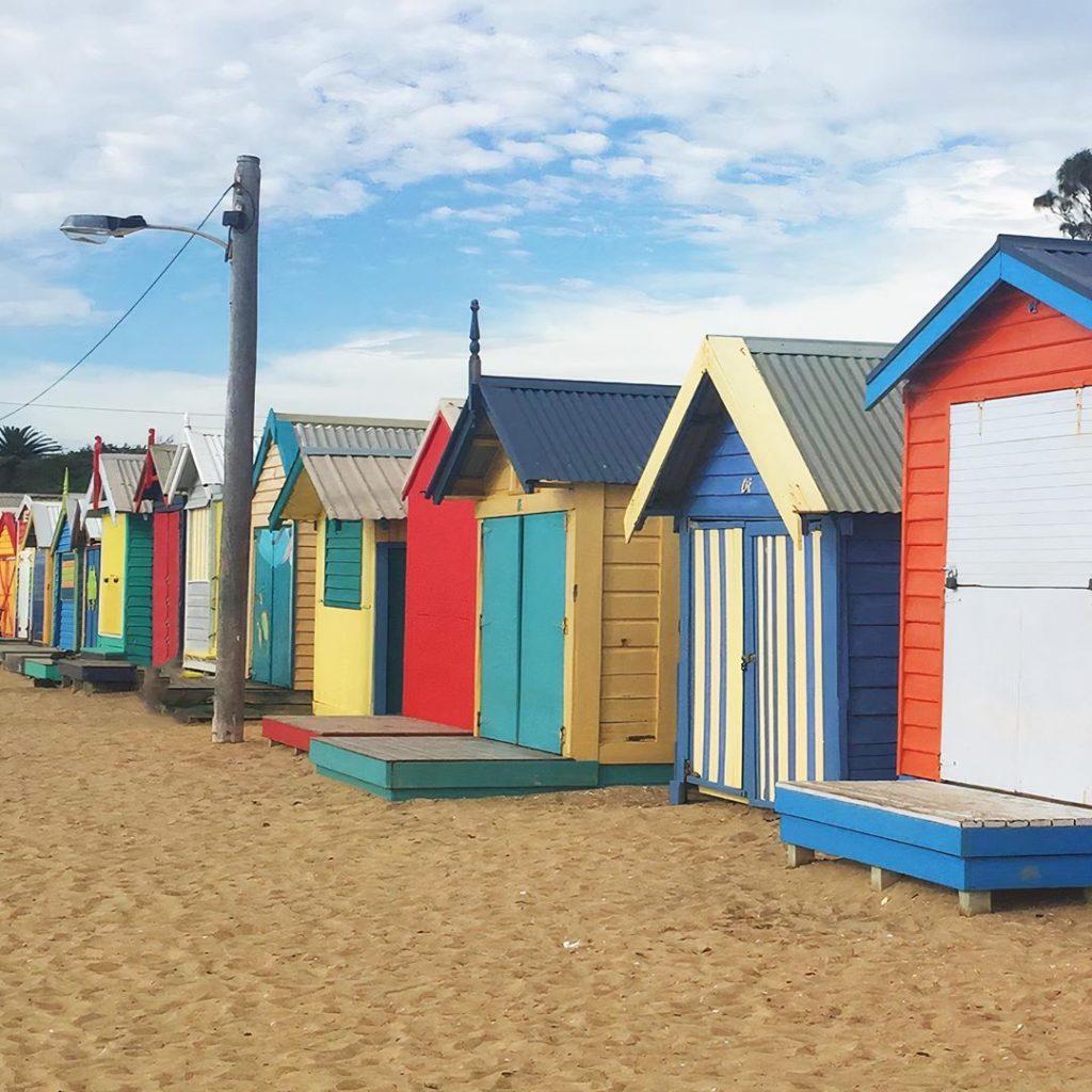Visit the Brighton Bathing Boxes.