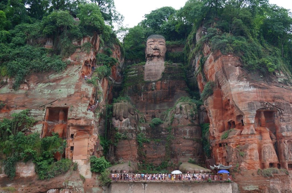 The Leshan Giant Buddha is the tallest of its kind.