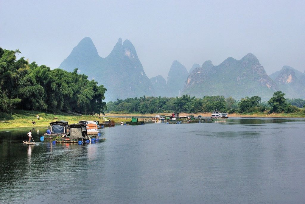 Rafting down the Li River in Guilin is one of the top things on our China bucket list.