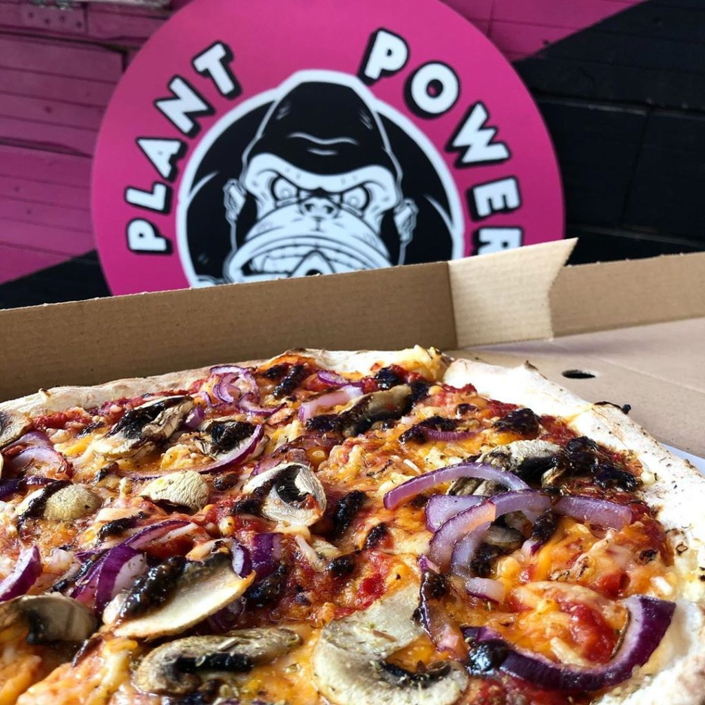 Plant Powered Pizza is famous for vegan pizza in the capital city.