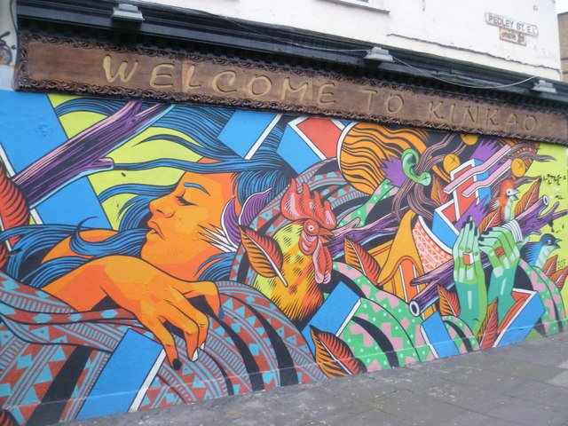 Brick Lane is one of the best places for street art in London.