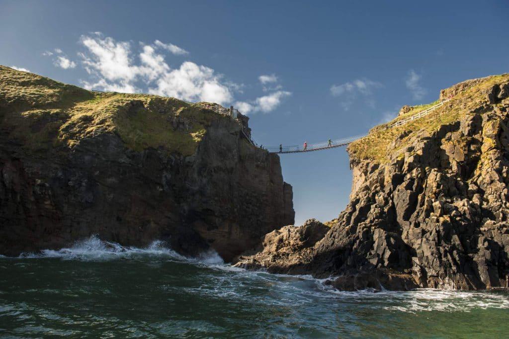 On our Irish adventure bucket list, be sure to swim under the rope bridge.