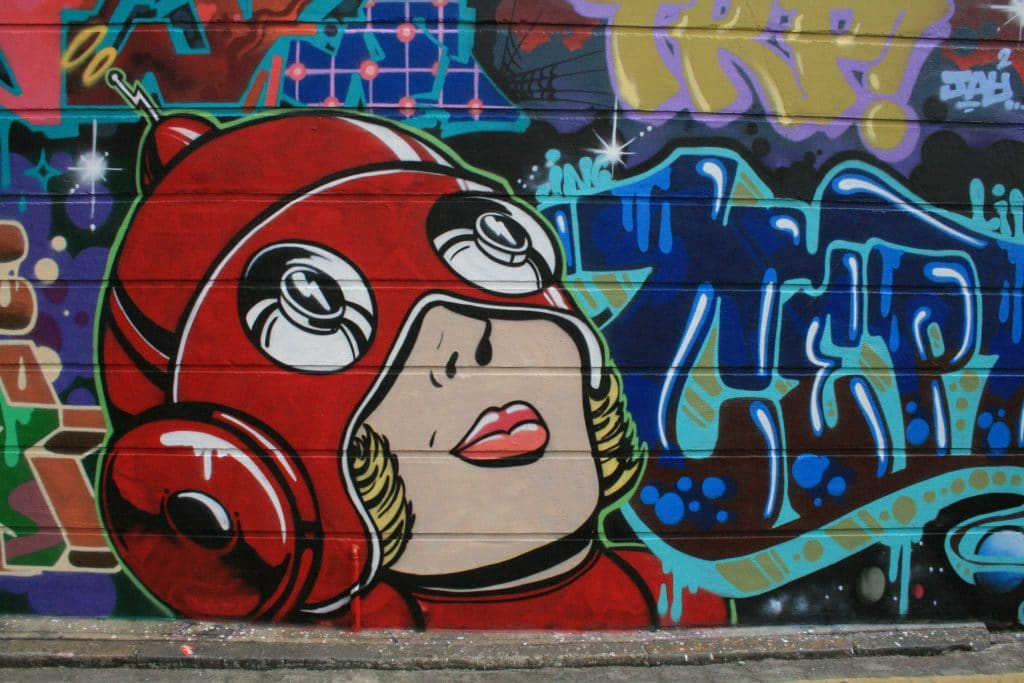 Shoreditch is one of the best places for street art in London.
