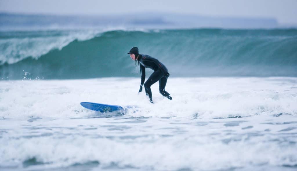 Grab big waves in Sligo with your surf-board.