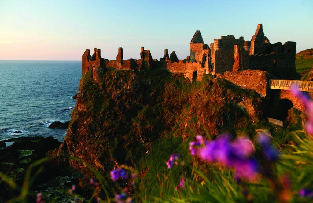Dunluce Castle is one of the best castles in Ireland.