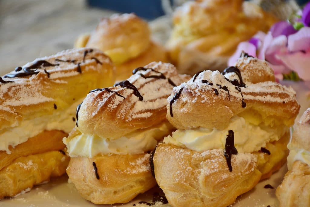 Éclairs are a delicious treat.