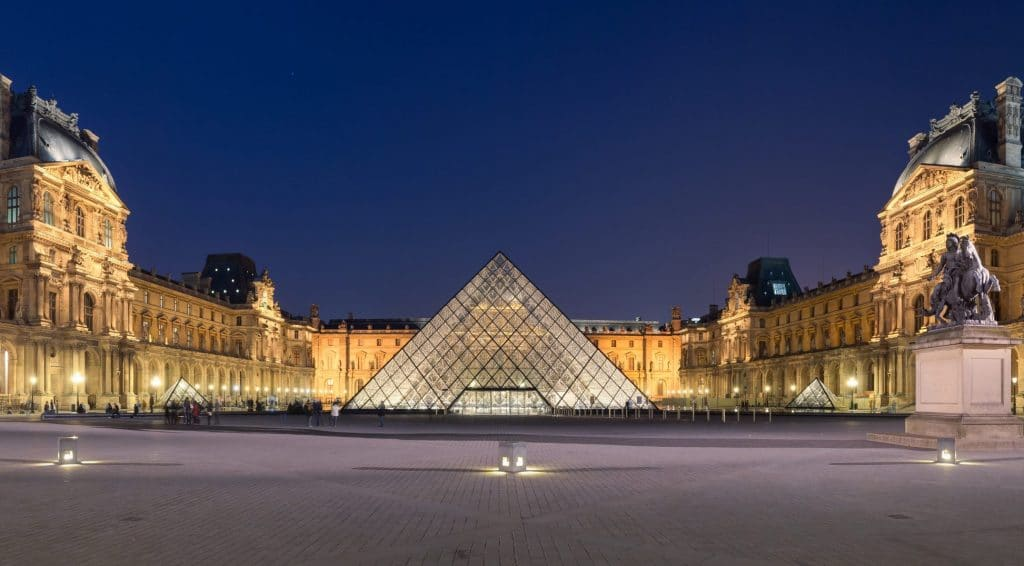 The Louvre is one of the largest museums of the world.
