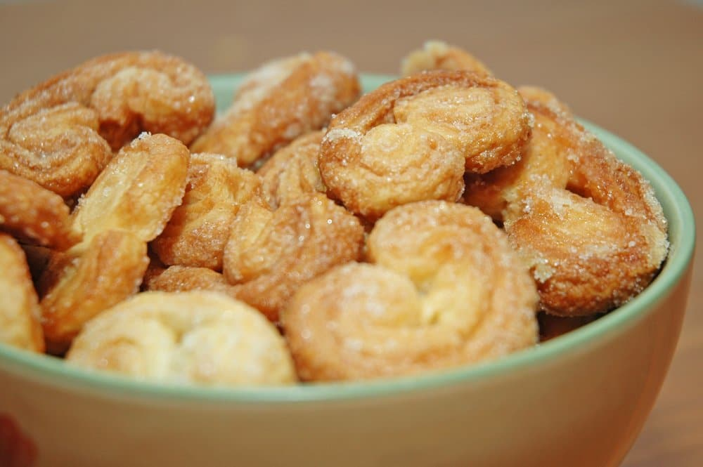 A palmier is a 'palm tree' pastry.