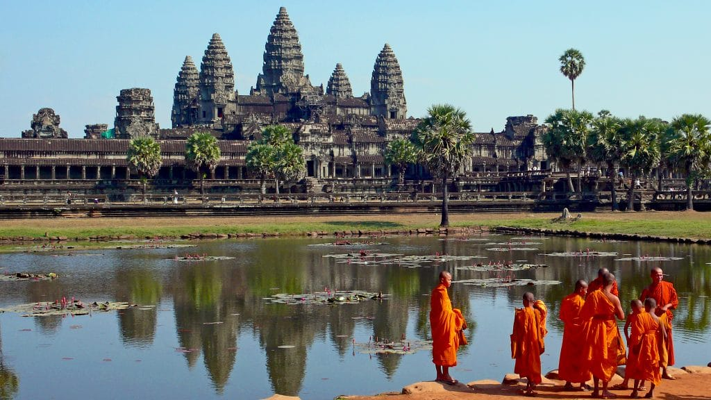 Angkor Wat is one of the top 10 UNESCO World Heritage Sites.