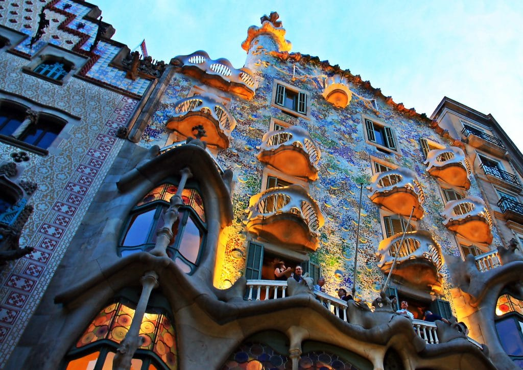 Antoni Gaudi's architecture in Spain is one of the top 10 UNESCO World Heritage Sites.