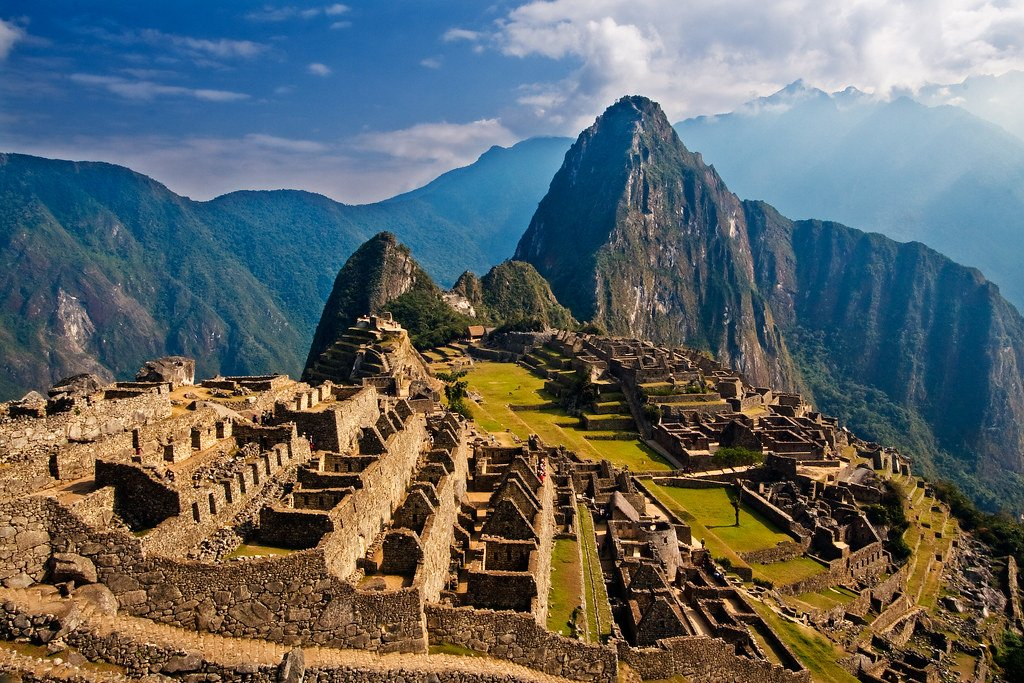 Machu Picchu in Peru is a mysterious citadel.