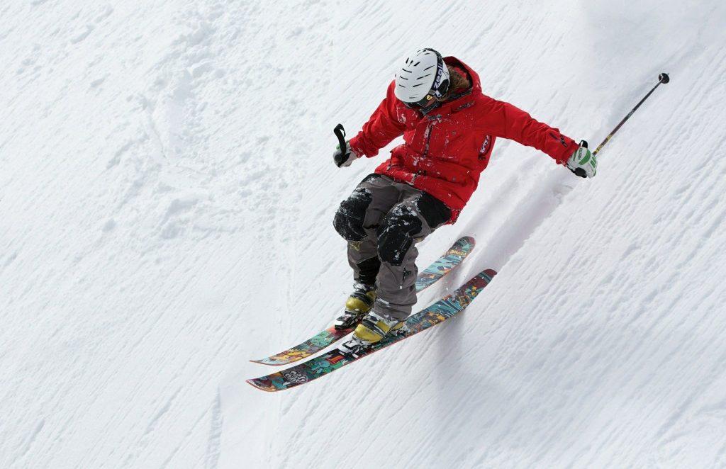 Skiing is an alpine adventure sport.