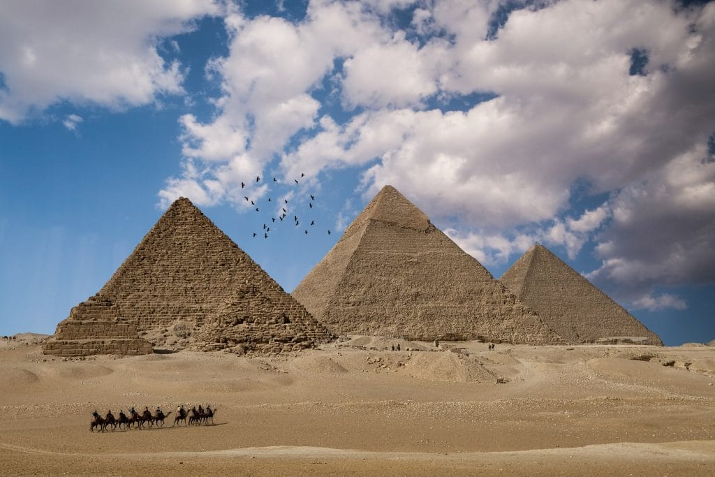 The Pyramids of Giza are one of the top 10 UNESCO World Heritage Sites.