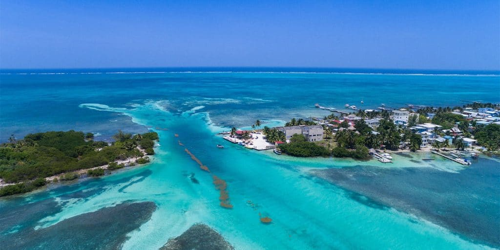Belize Barrier Reef is one of the best places to travel in South America.