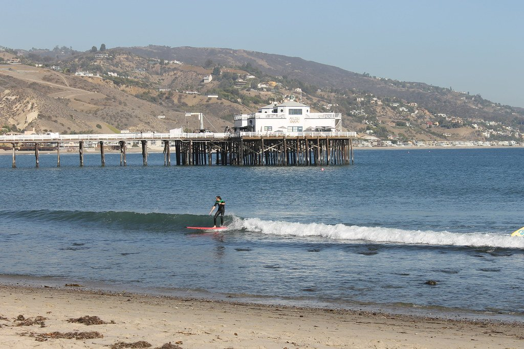 Malibu Lagoon State Beach tops our list of spots for surfing in California.