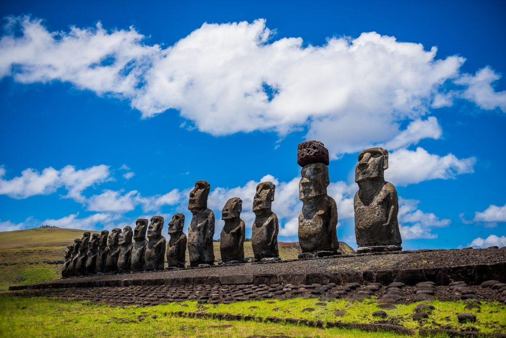 Check out Easter Island in Chile.