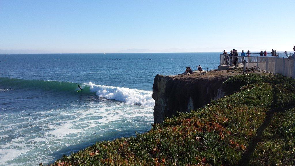 Steamer Lane is a top surfing California spot.