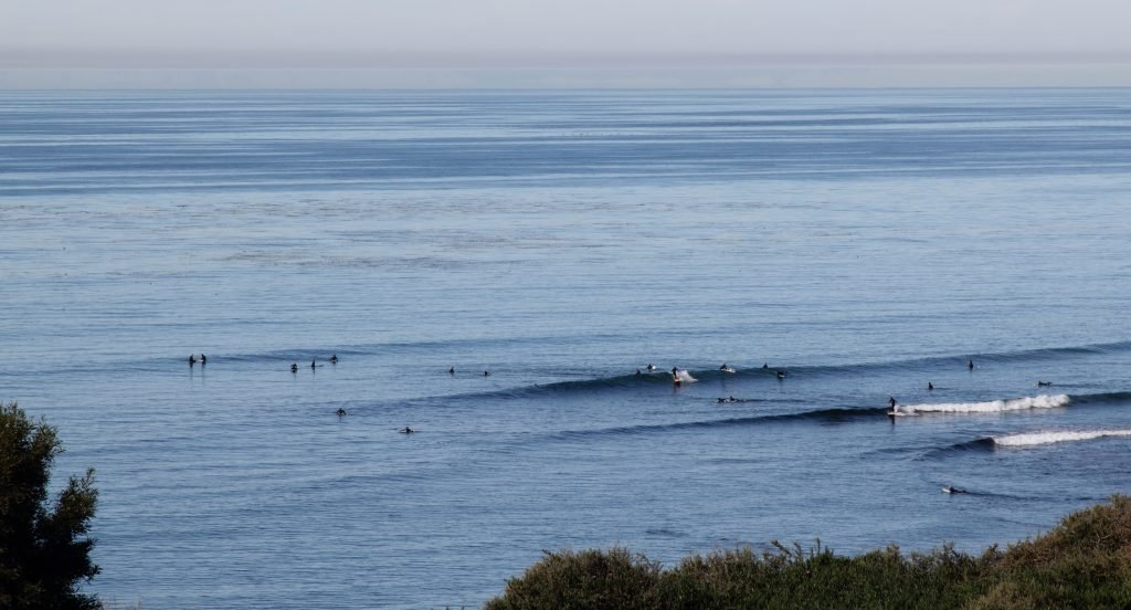 Swami's is one of the top spots for surfing in California.