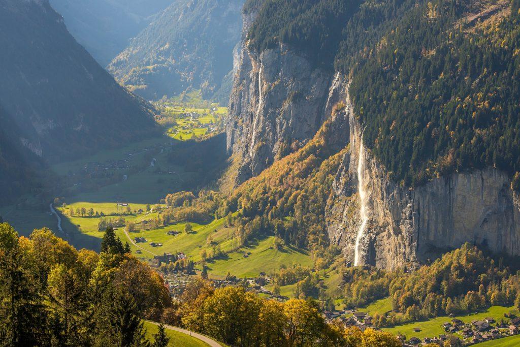 Lauterbrunnen Glaciel Valley is a must.