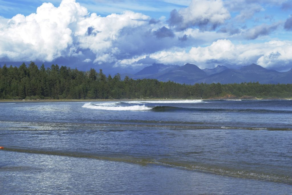 Wear a wetsuit if you're surfing at Tofino.