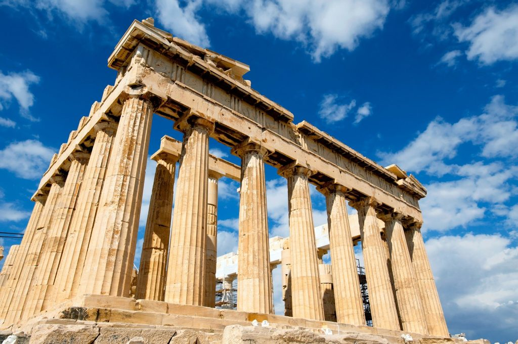 The Parthenon is one of the famous landmarks in Europe.