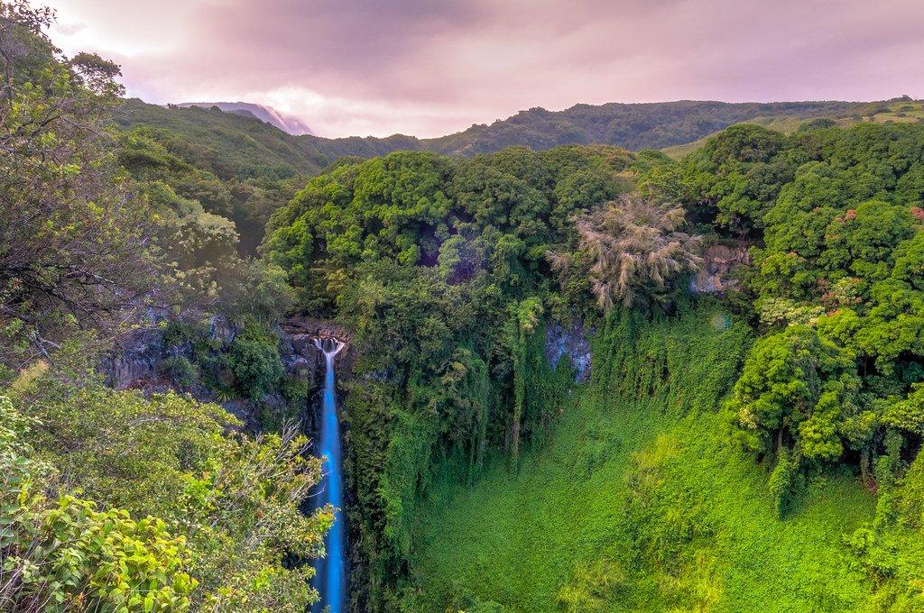 Makahiku Falls is one of the best Maui waterfalls.