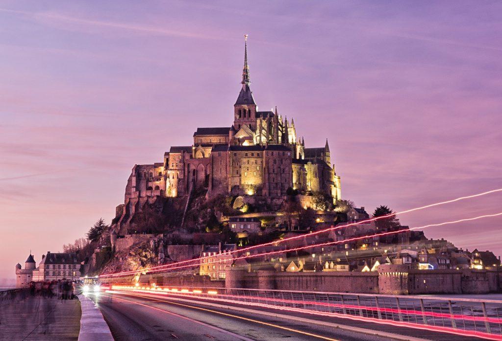 Mont Saint Michel is a medieval island city.