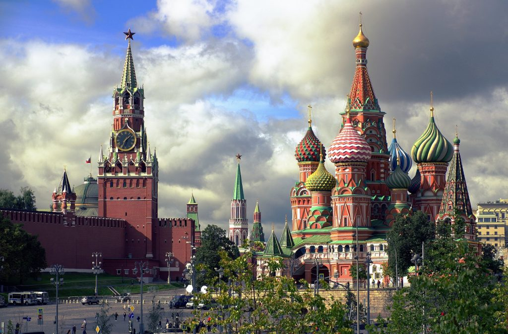 St Basil's Cathedral is one of the most amazing famous landmarks in Europe.