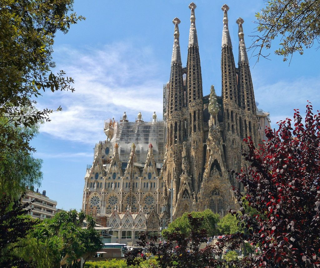 La Sagrada Familia is one of the most famous landmarks in Europe.